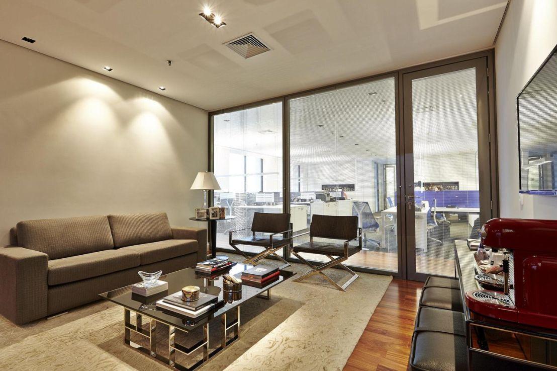 Recepção e sala de espera: decoração elegante efuncional